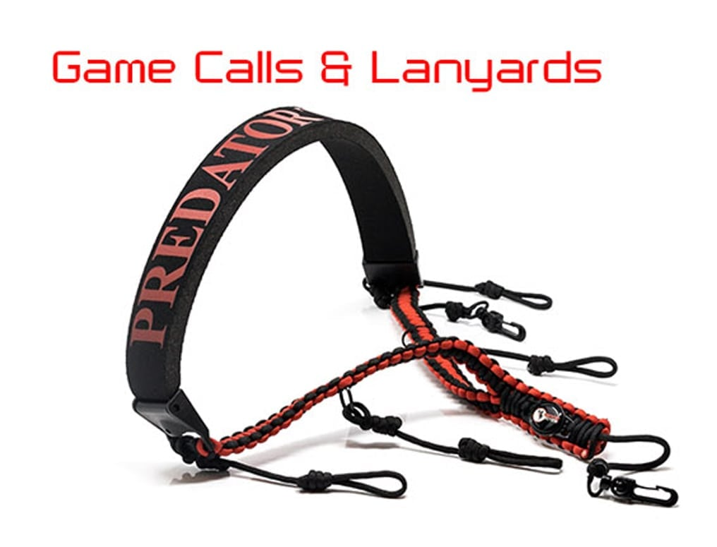 game calls and lanyards for predator hunting