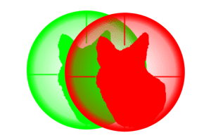 predator tactics single green night hunting light led emblem