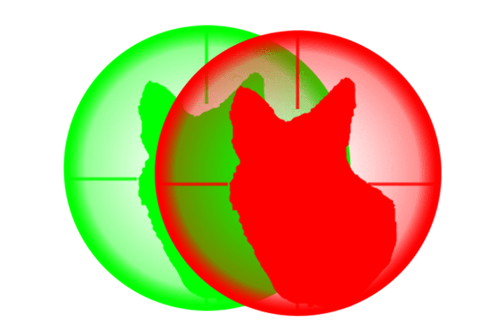 red hunting light and green night hunting lights emblem from predator tactics